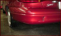 Dent and punctured bumper