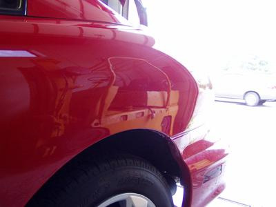 Dents removed without patching and spray painting work